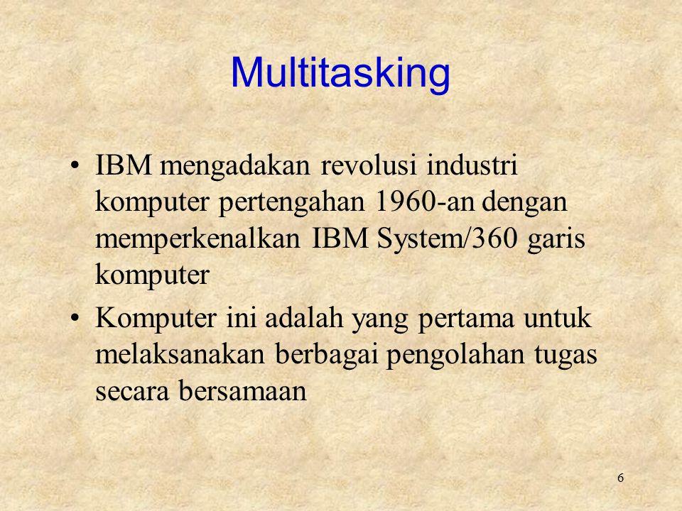 Multitasking IBM mengadakan revolusi industri komputer pertengahan 1960-an dengan memperkenalkan IBM System/360 garis komputer.