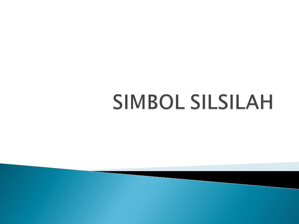SIMBOL SILSILAH