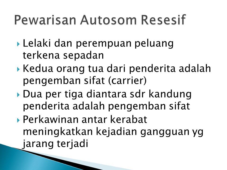 Pewarisan Autosom Resesif