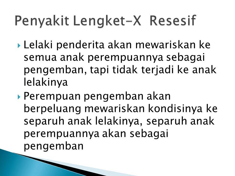 Penyakit Lengket-X Resesif