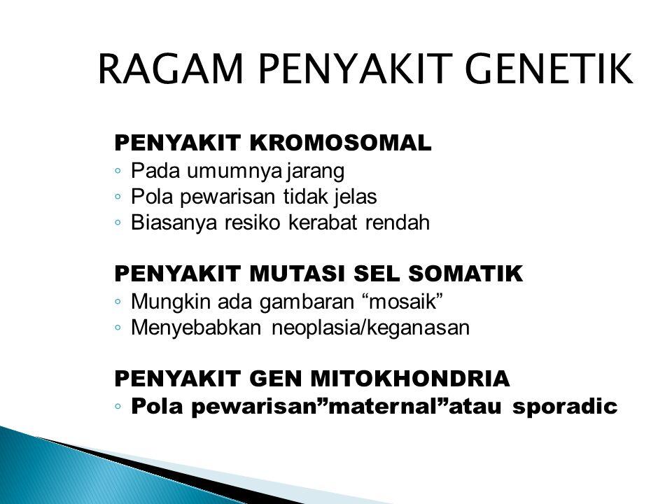RAGAM PENYAKIT GENETIK