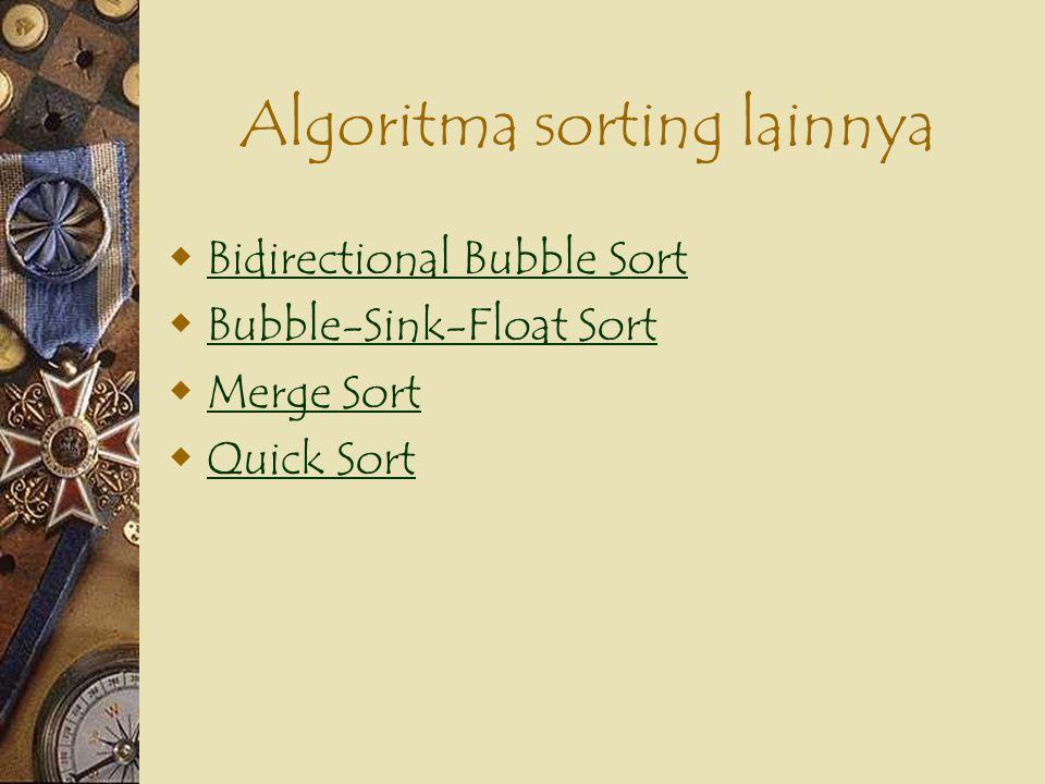 Algoritma sorting lainnya