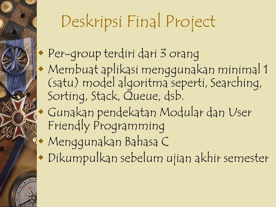 Deskripsi Final Project