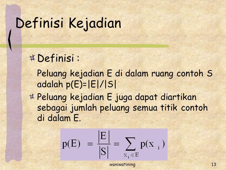 Definisi Kejadian Definisi :