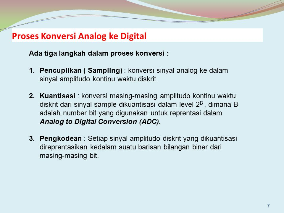 Proses Konversi Analog ke Digital