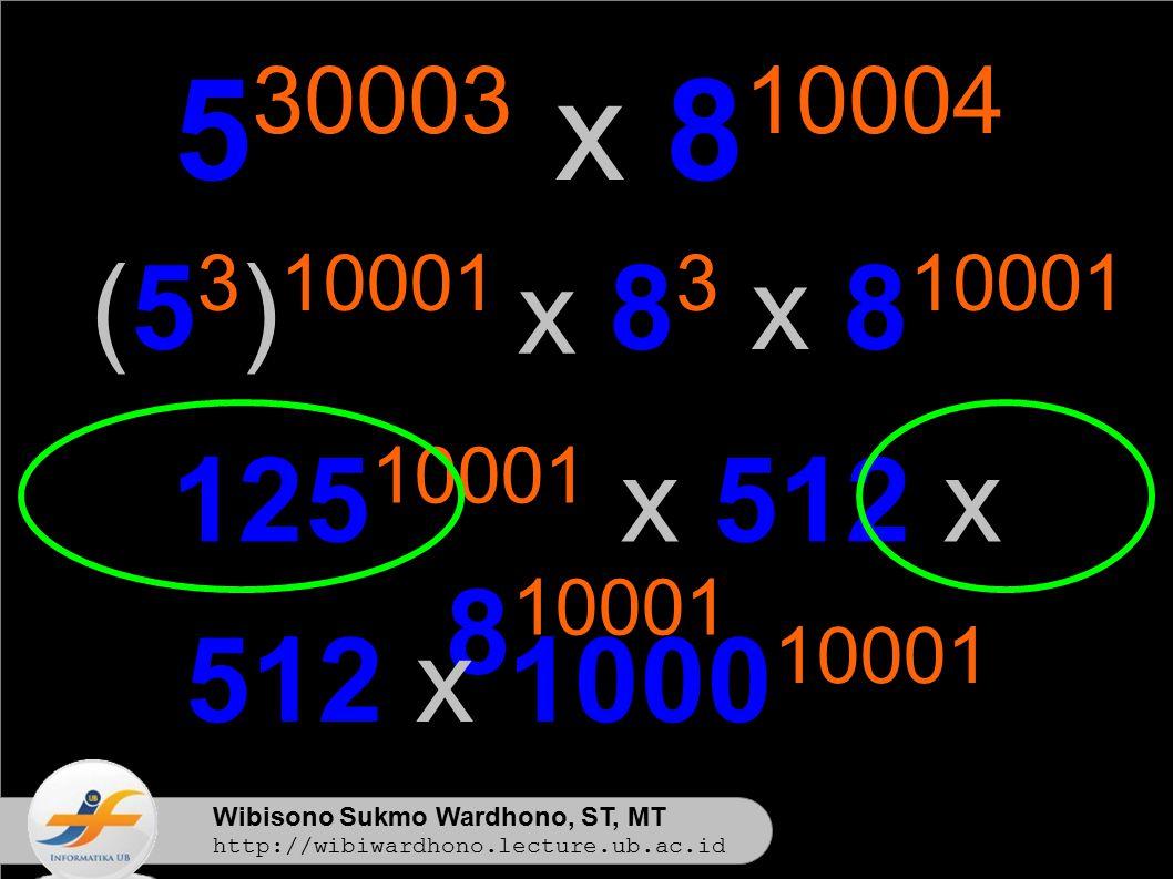530003 x 810004 (53)10001. x. 83 x 810001. 12510001 x 512 x 810001. 512 x 100010001. Wibisono Sukmo Wardhono, ST, MT.