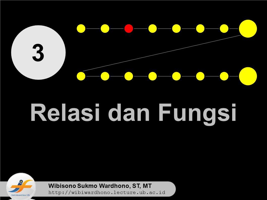 3 Relasi dan Fungsi Wibisono Sukmo Wardhono, ST, MT