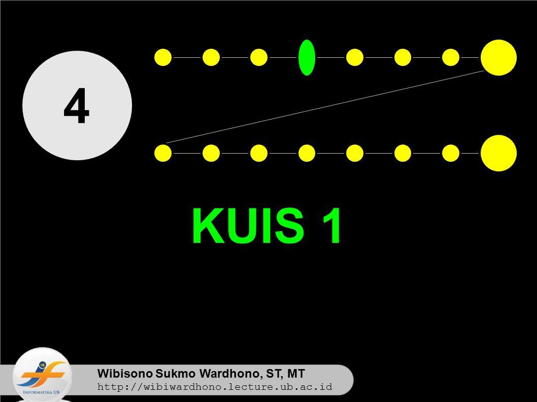 4 KUIS 1 Wibisono Sukmo Wardhono, ST, MT