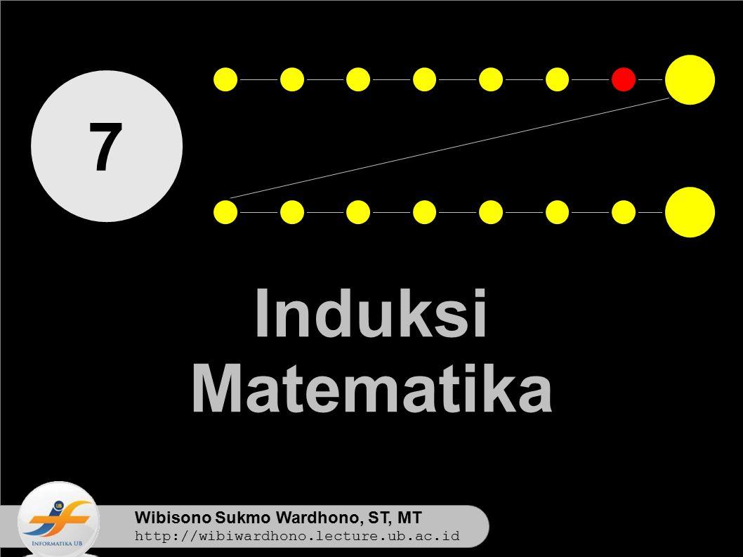7 Induksi Matematika Wibisono Sukmo Wardhono, ST, MT