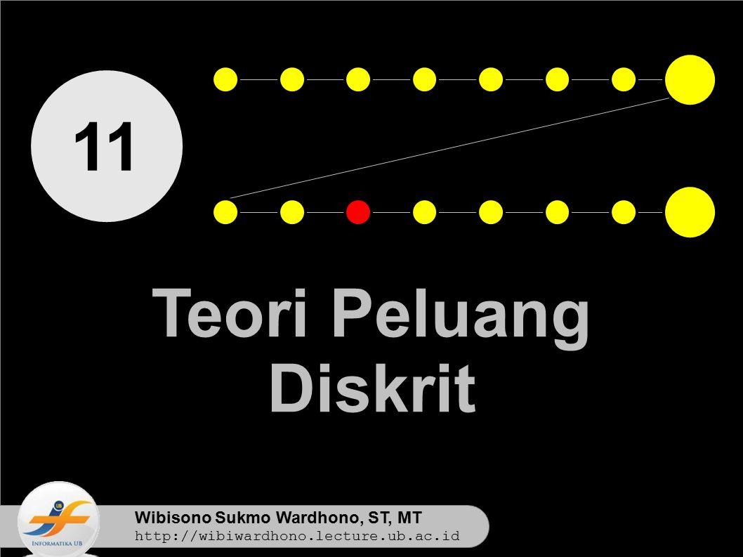 11 Teori Peluang Diskrit Wibisono Sukmo Wardhono, ST, MT