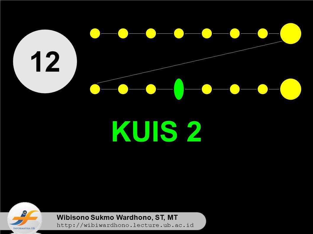 12 KUIS 2 Wibisono Sukmo Wardhono, ST, MT