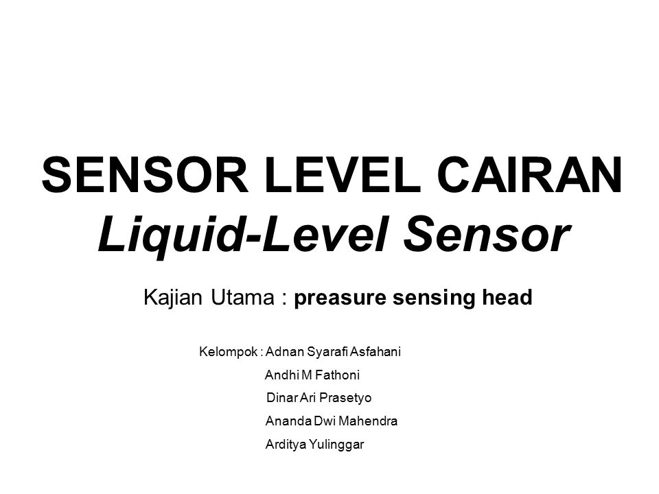 SENSOR LEVEL CAIRAN Liquid-Level Sensor
