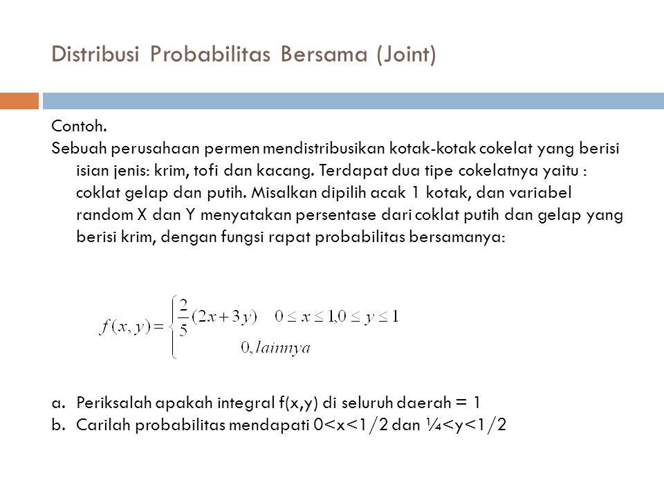 Distribusi Probabilitas Bersama (Joint)