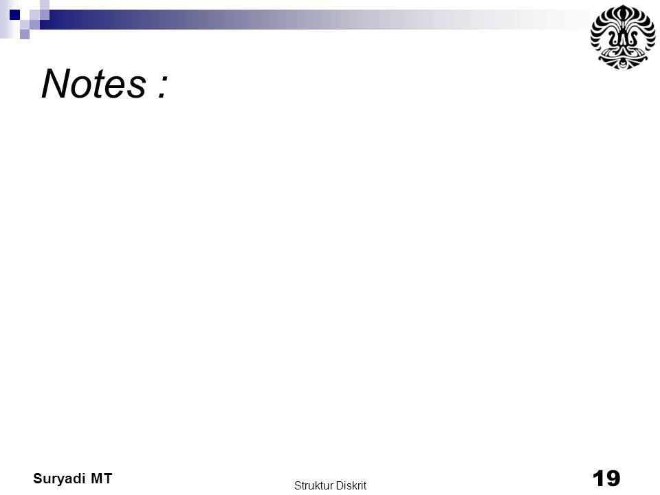 Notes : Struktur Diskrit