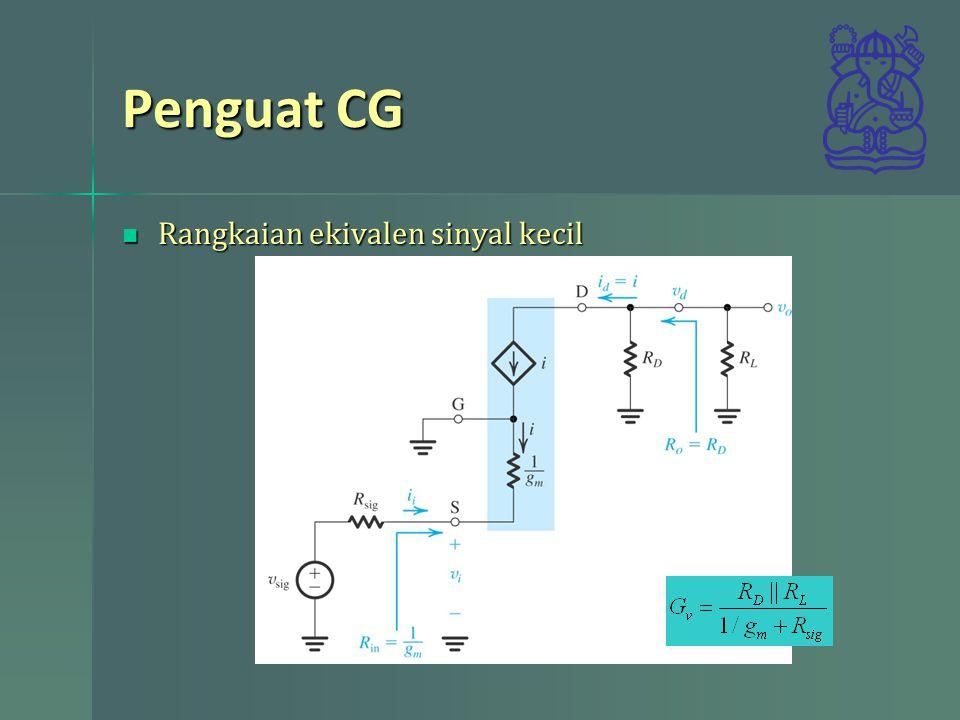 Penguat CG Rangkaian ekivalen sinyal kecil