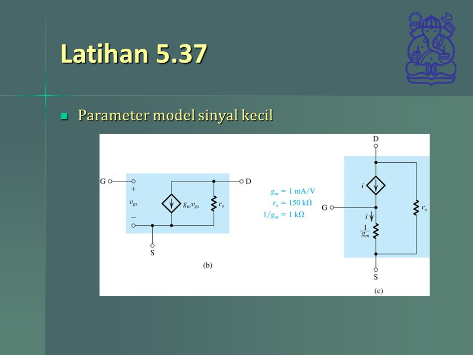 Latihan 5.37 Parameter model sinyal kecil