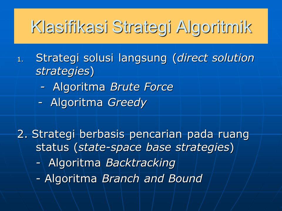 Klasifikasi Strategi Algoritmik