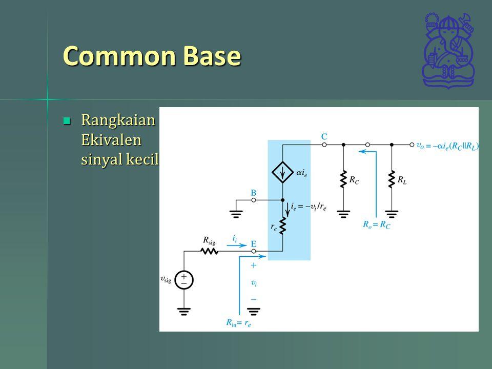 Common Base Rangkaian Ekivalen sinyal kecil