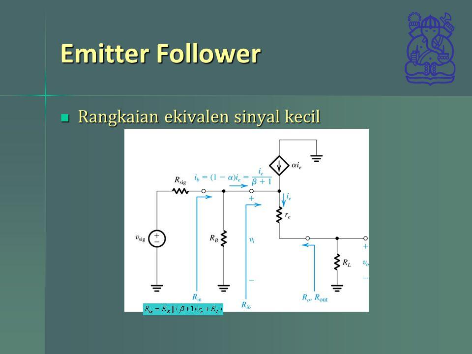 Emitter Follower Rangkaian ekivalen sinyal kecil