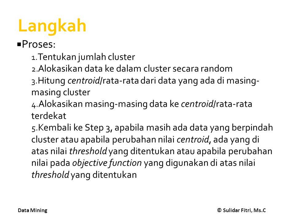 Langkah Proses: Tentukan jumlah cluster