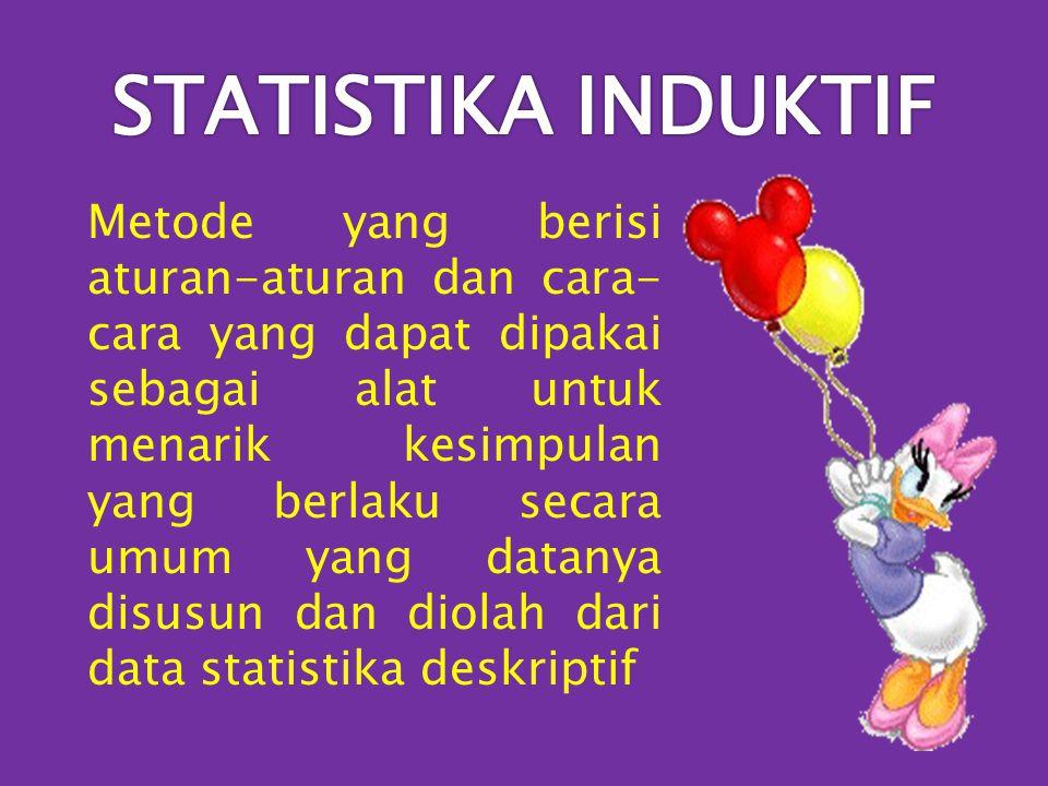STATISTIKA INDUKTIF