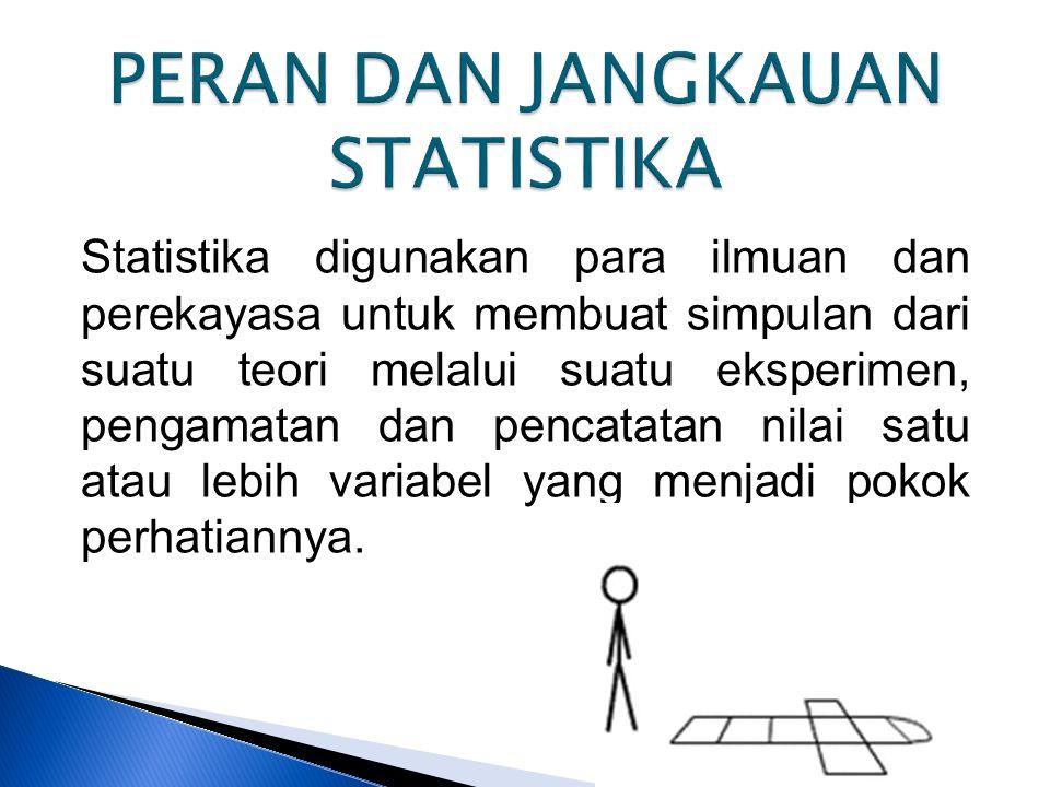 PERAN DAN JANGKAUAN STATISTIKA