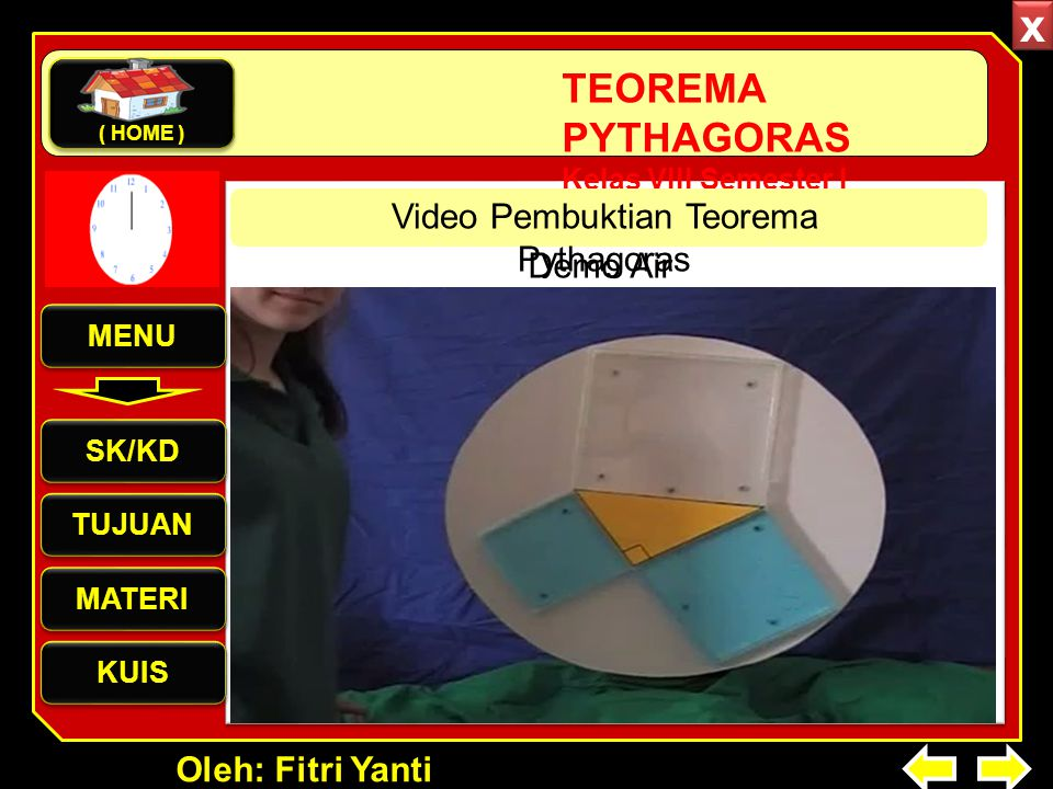 Video Pembuktian Teorema Pythagoras