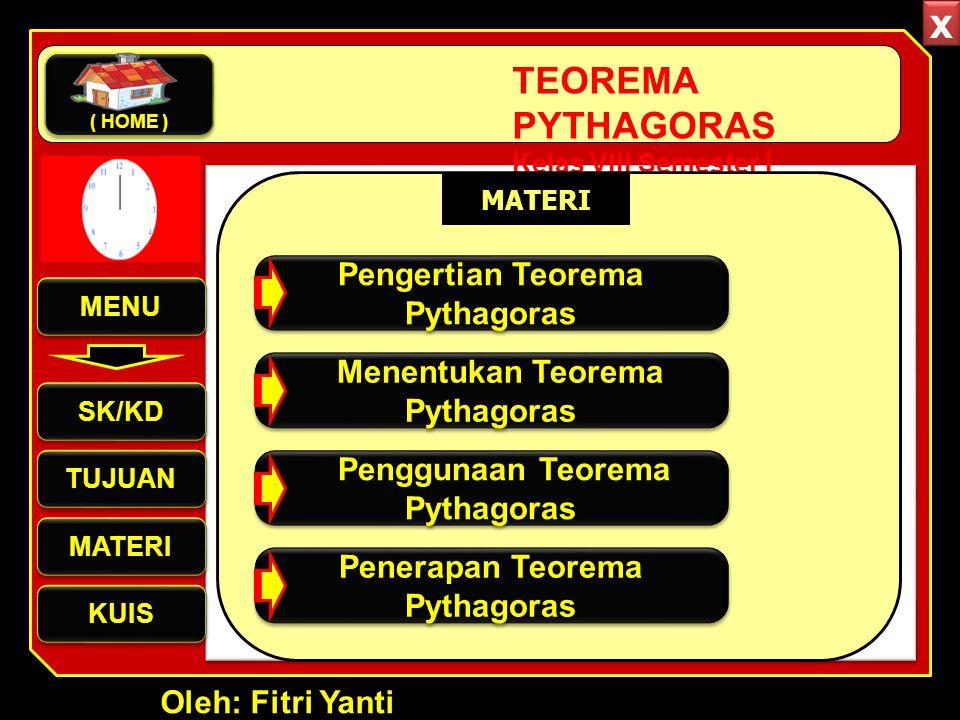x Pengertian Teorema Pythagoras Menentukan Teorema Pythagoras