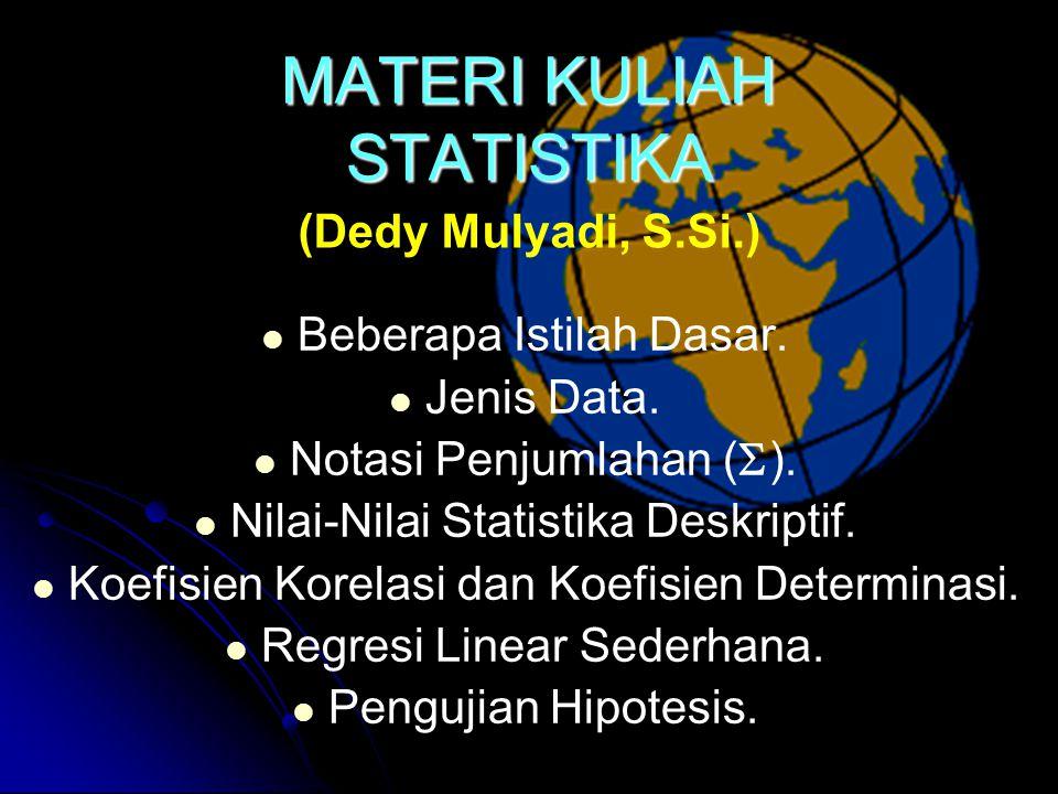 MATERI KULIAH STATISTIKA