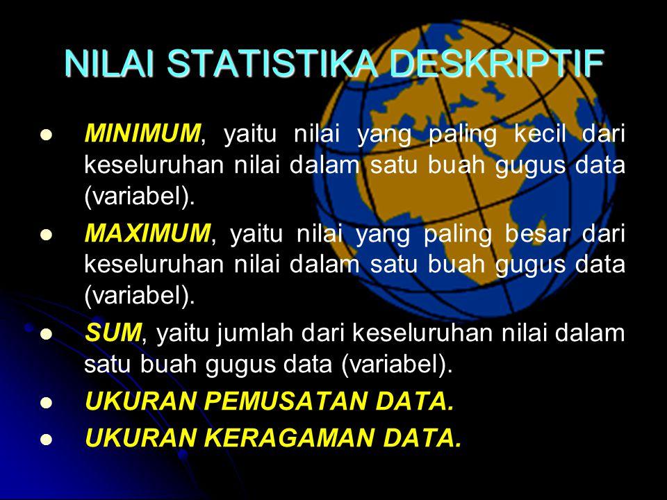 NILAI STATISTIKA DESKRIPTIF