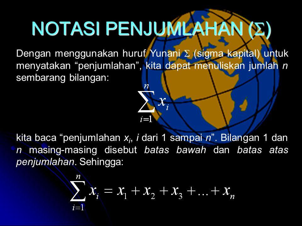 NOTASI PENJUMLAHAN ()