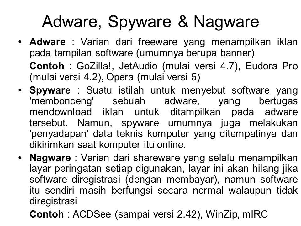 Adware, Spyware & Nagware