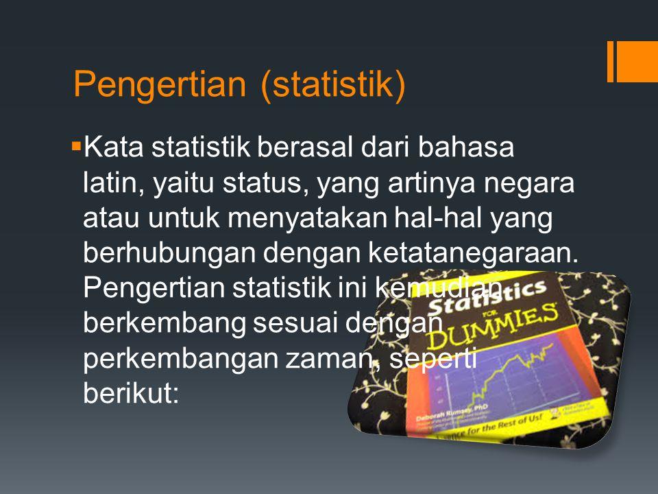 Pengertian (statistik)