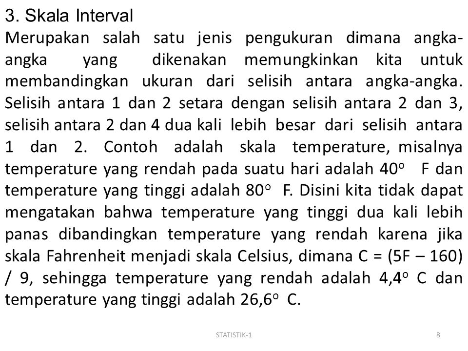 3. Skala Interval