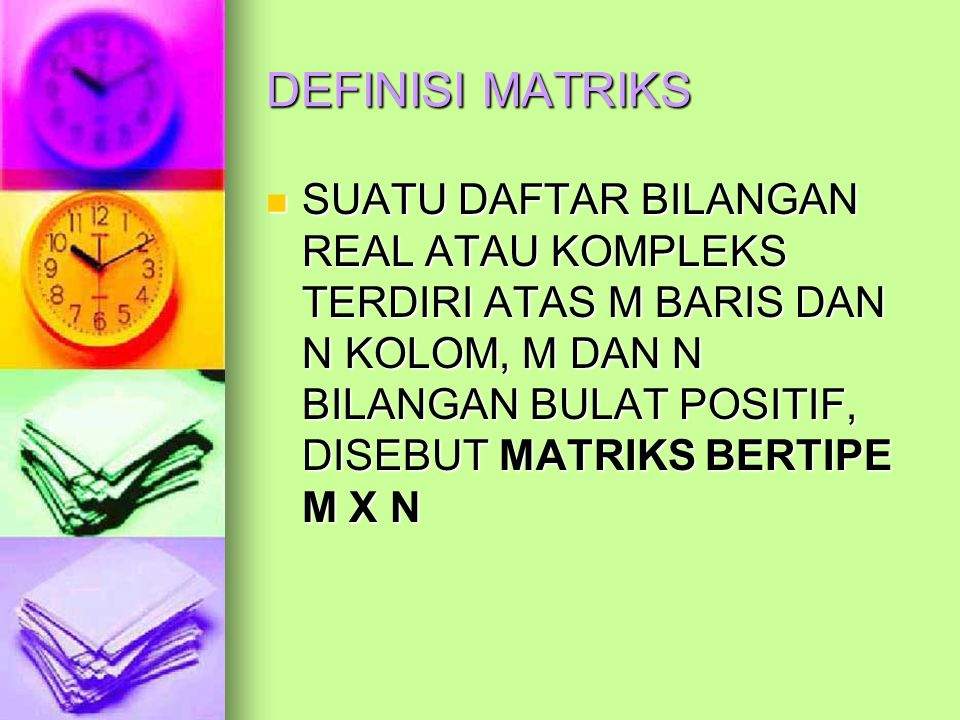 DEFINISI MATRIKS