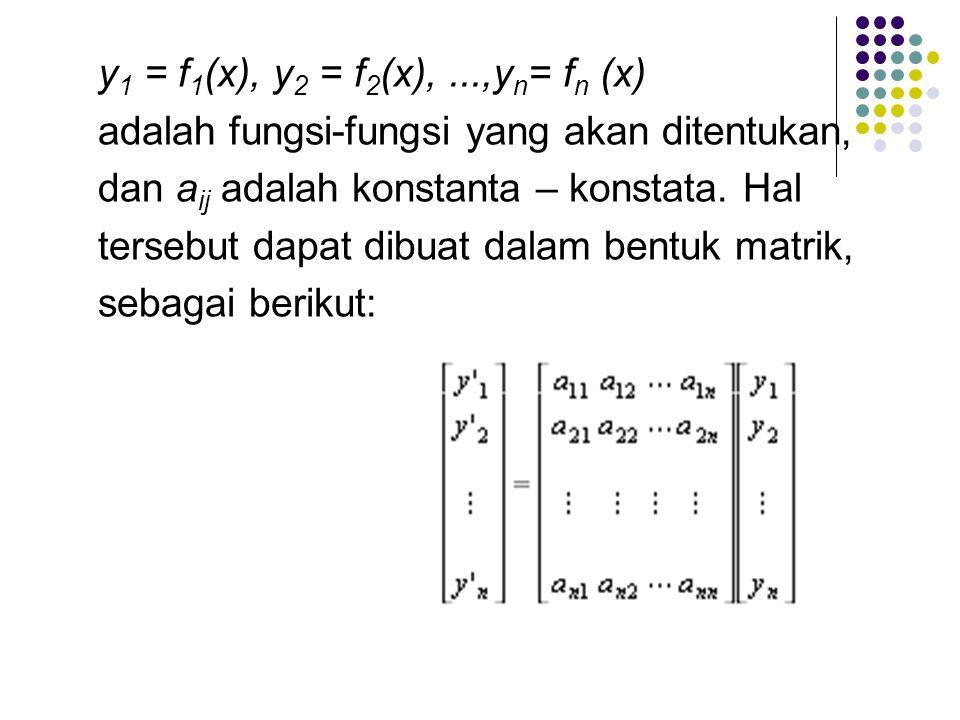 y1 = f1(x), y2 = f2(x), ...,yn= fn (x)