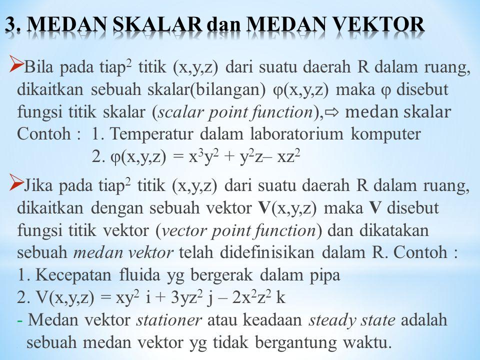 3. MEDAN SKALAR dan MEDAN VEKTOR