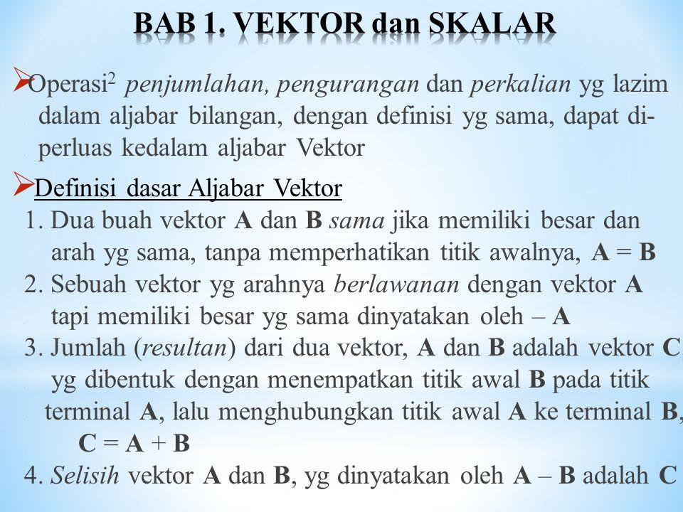 BAB 1. VEKTOR dan SKALAR