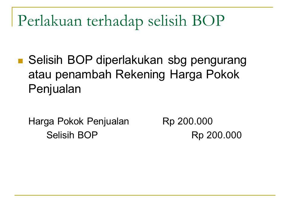 Perlakuan terhadap selisih BOP