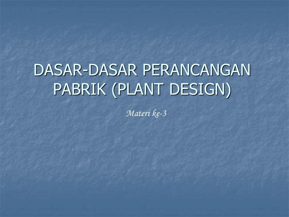DASAR-DASAR PERANCANGAN PABRIK (PLANT DESIGN)