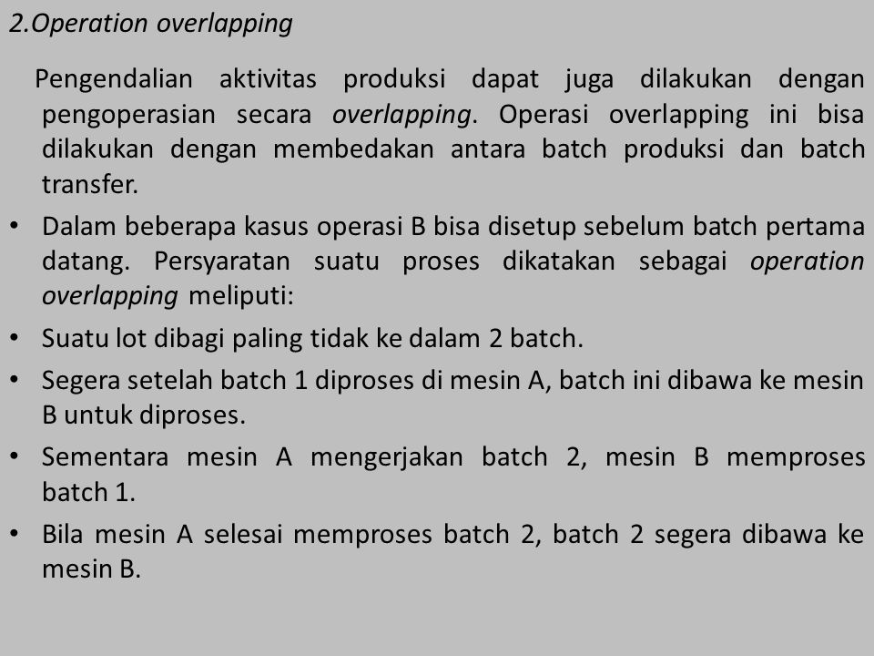 2.Operation overlapping