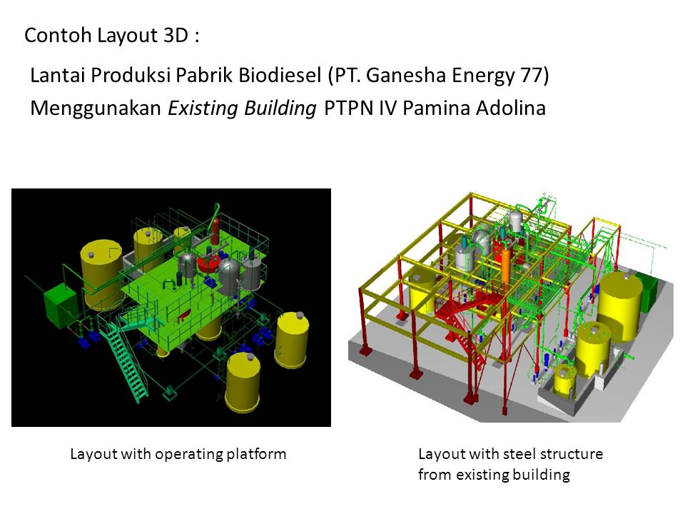 Lantai Produksi Pabrik Biodiesel (PT. Ganesha Energy 77)