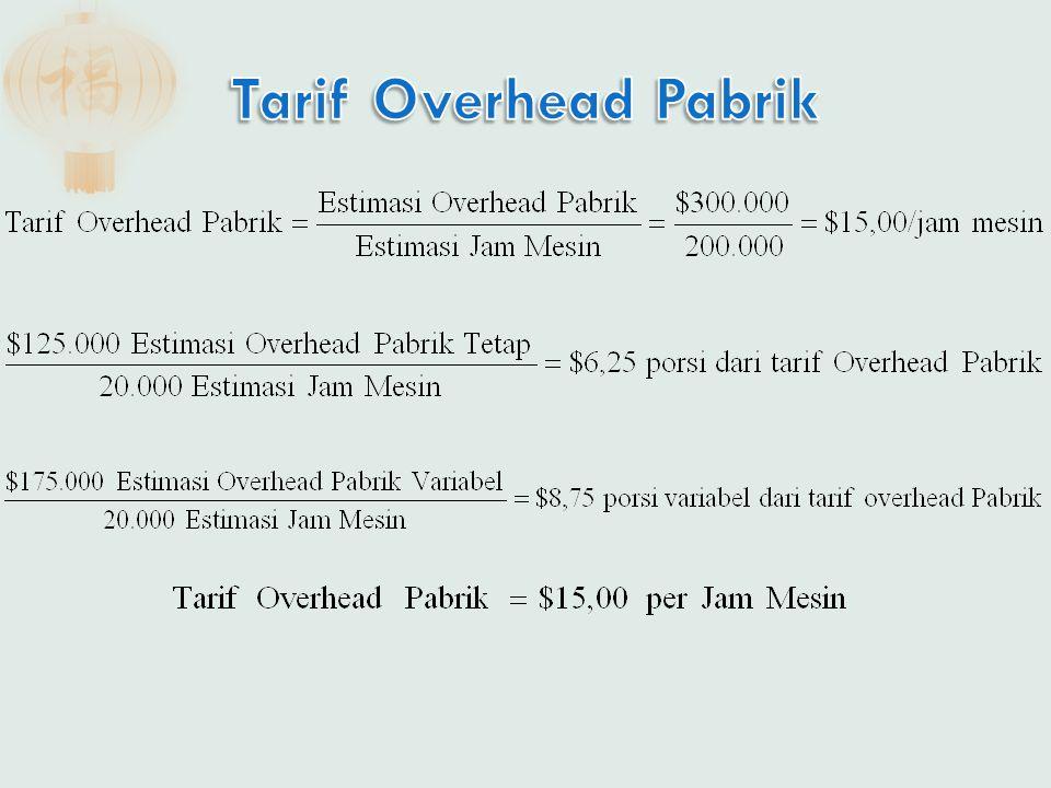 Tarif Overhead Pabrik