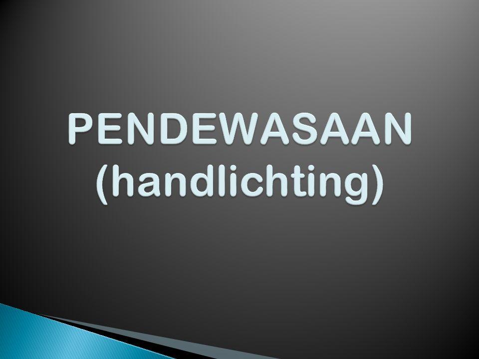 PENDEWASAAN (handlichting)