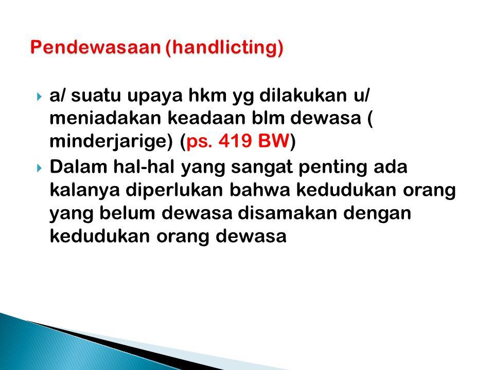 Pendewasaan (handlicting)