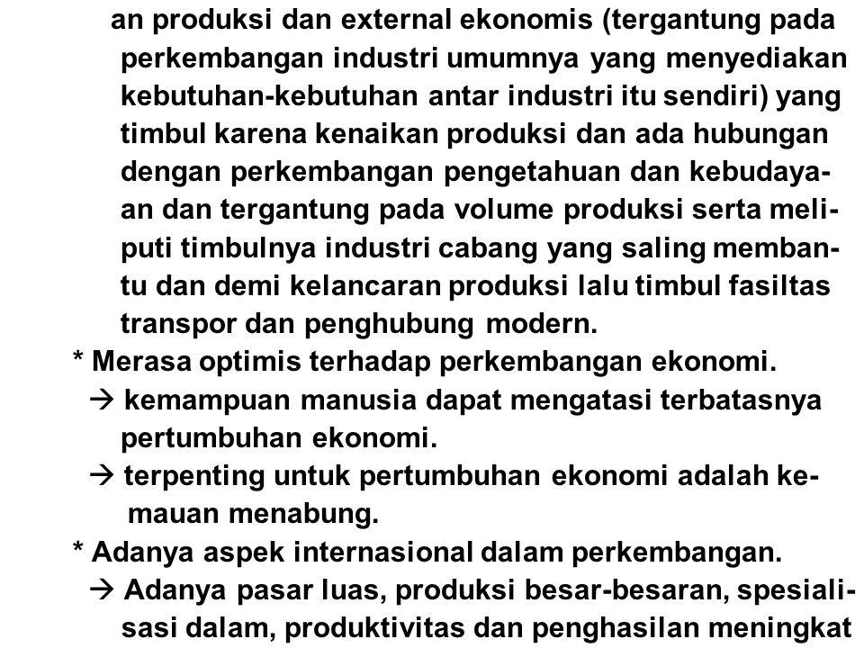 perkembangan industri umumnya yang menyediakan