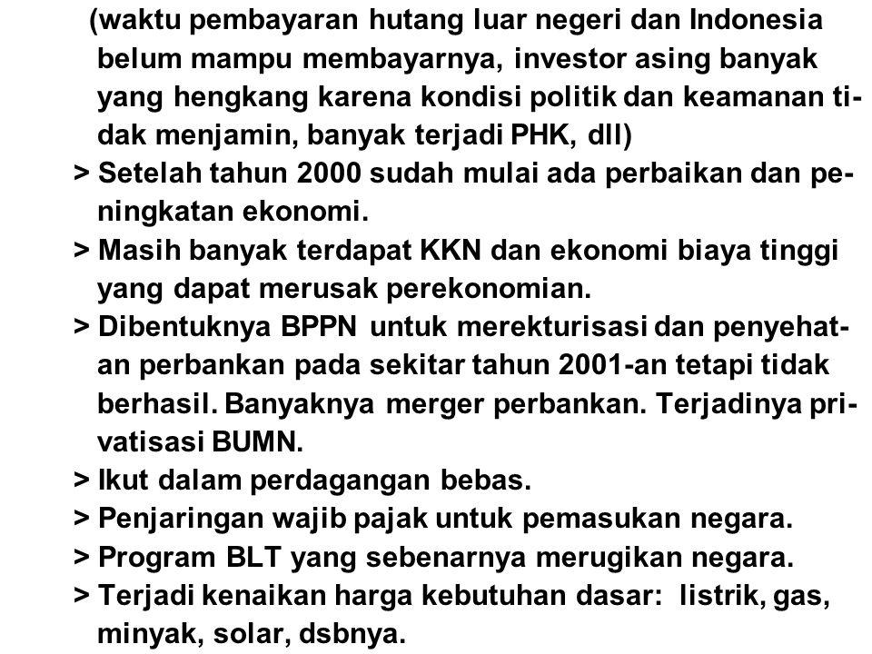 (waktu pembayaran hutang luar negeri dan Indonesia