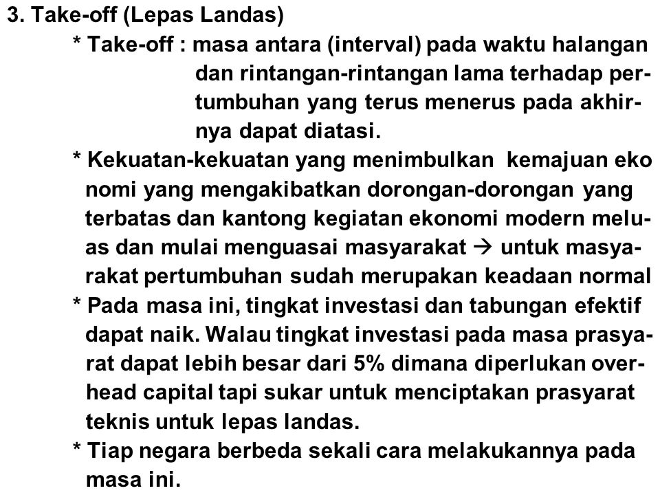 3. Take-off (Lepas Landas)