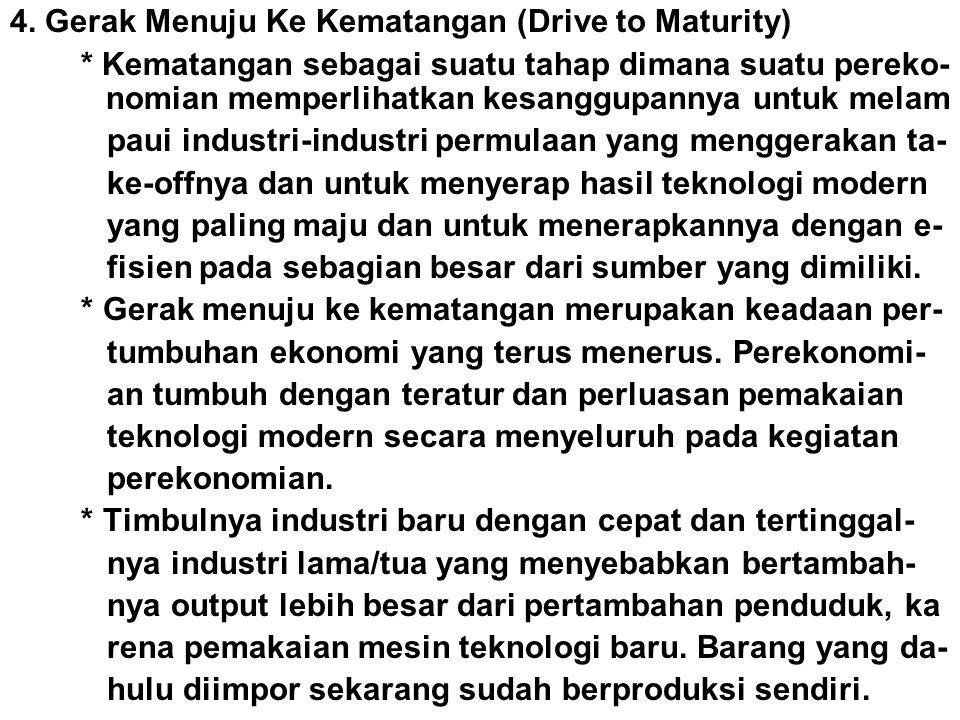 4. Gerak Menuju Ke Kematangan (Drive to Maturity)