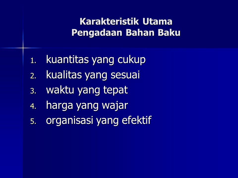 Karakteristik Utama Pengadaan Bahan Baku